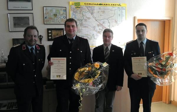 Ernennung des Ortswehrleiters und des Stellvertreters FF Dölbau am 10.04.2012 [(c): Karsten Braun]