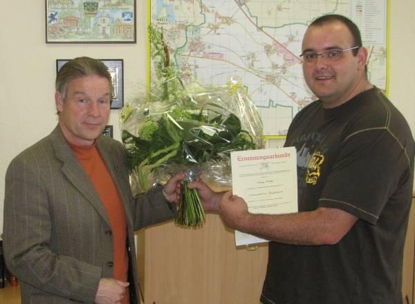 Ernennung des Ortswehrleiters der FF Großkugel [(c): Karsten Braun]